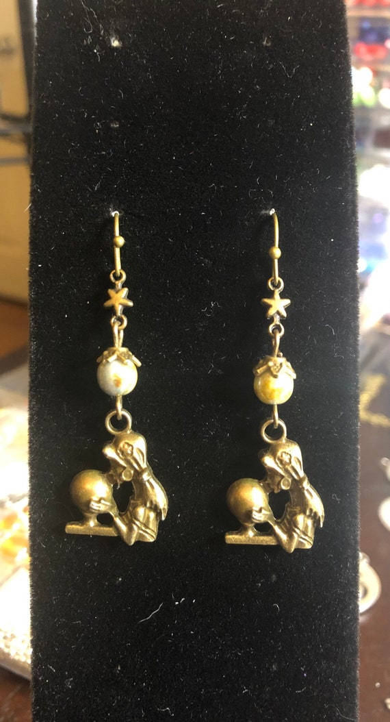 7.00 Mystical Gypsy Lady Earrings Bronze Colored