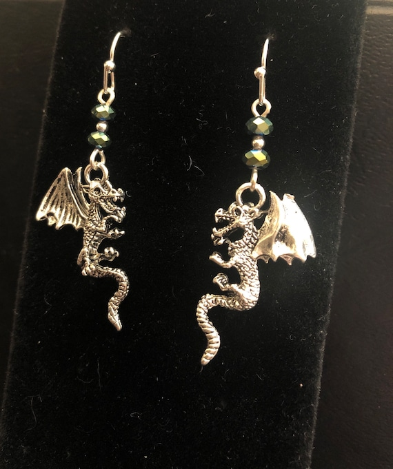 Mystical Dragon Fire Elemental Earrings
