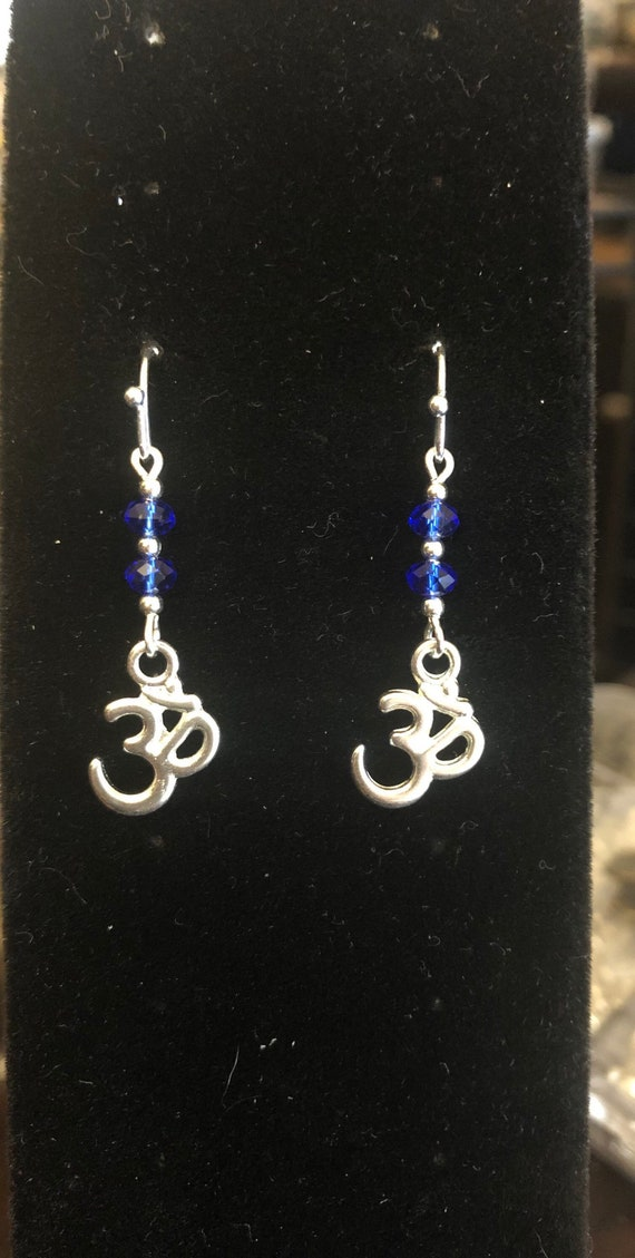 7.00 Ohm Yoga Meditation Blue earrings