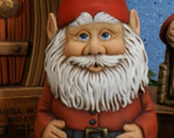 Unpainted Jolly Drinking Gnome Ready to Paint You Paint Ceramic Bisque