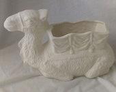 Camel Planter 6 1 4 quot x 9 1 2 quot x 4 1 2 quot Ceramic Bisque, Ready To Paint