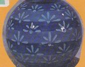 Arnels 492 Ball Planter ready to paint 9 quot x 6 quot ceramic bisque