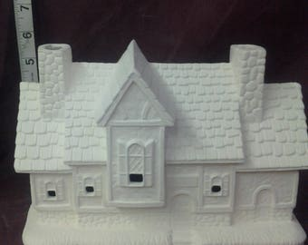 crystal creek inn 6 x 9 x 4 village house ready to paint ceramic bisque windows are cut out