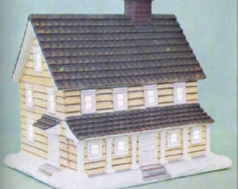 """Country Manor Village House 6"""" x 6"""" x 5"""" Ceramic Bisque, Ready To Paint"""