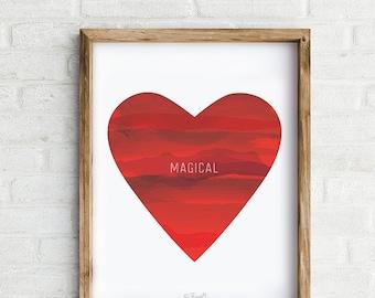 Magical Heart Art Print, Wall Art, Home Decor
