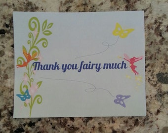 Printable Fairy Thank you Post Cards
