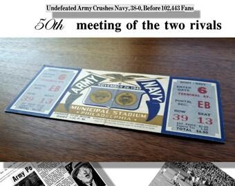 Army Navy Game November 26 1949 FULL TICKET unused, 50th meeting of the teams