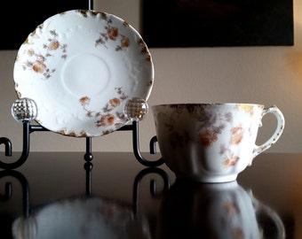 Vintage Haviland Teacup and Saucer / CFM GDM Limoges France