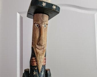 Gary Yost Signed Uncle Sam Folk Art