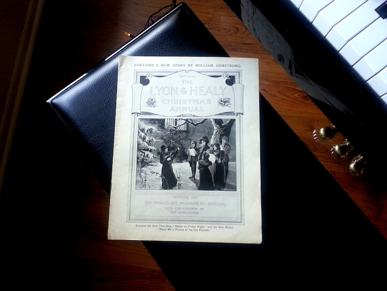 The Lyon and Healy Christmas Annual Catalog 1899 Harp and image 0