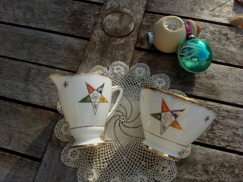 Royal Stafford England Cream and Sugar set  OES Order of the image 0