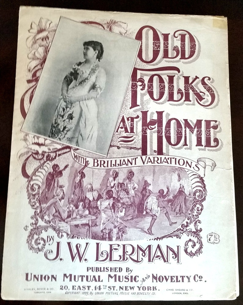 Old Folks at Home 1899 SIGNED by F.W Helmick Publisher / by image 0