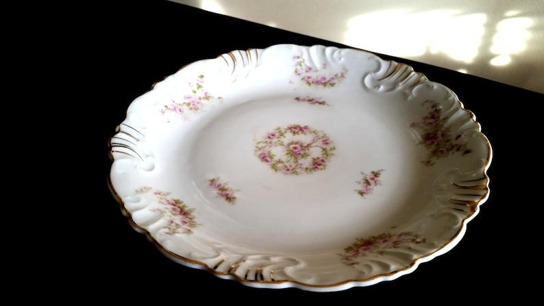 Z.S. & C Bavaria Dessert Plate/ Hand Painted Gold Gilt image 0