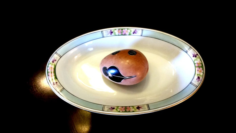 Vintage Meito Hand painted Bone China Art Deco Pattern Small image 0