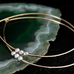 Beaded Hoop Earrings / 14K Gold and Sterling Silver Teardrop Hoops / Rose Gold Hammered Hoop Earrings Gift for Her / Boho Jewelry for Her