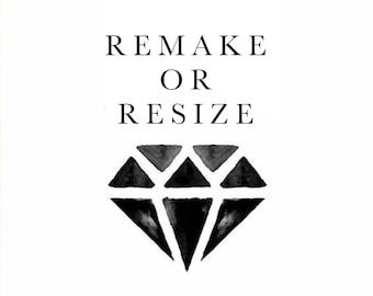 Remake/Resize Fee