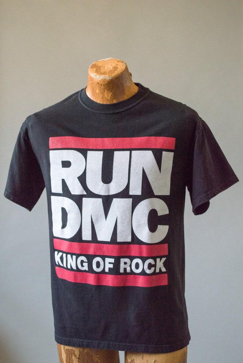 Vintage Run DMC King of Rock T Shirt Medium M&O Knit Hip Hop Rap Retro T  Shirt