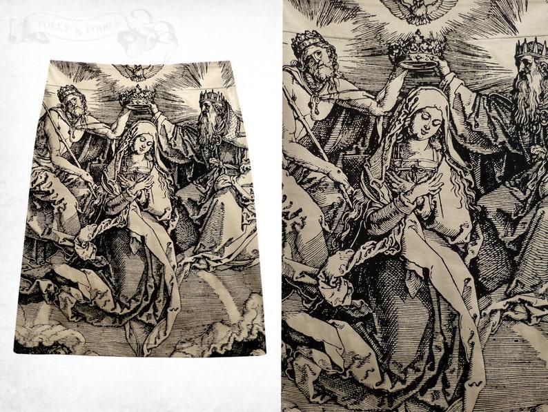 Coronation stretch cotton skirt ~Beige
