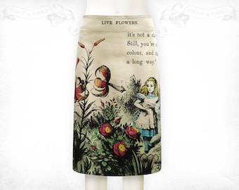 Alice in Wonderland Live Flowers stretch cotton skirt Colour