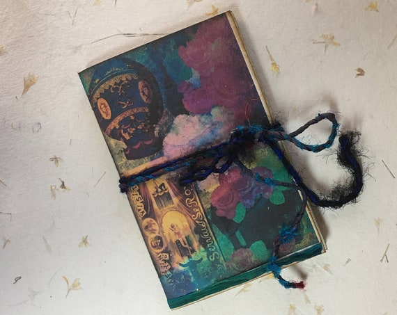 Gypsy Fair, Junk Journal, Paperback, Writing Journal, Travel Journal, Notebook, Diary, Gifts for Writers, Tea Stained Paper, Affordable
