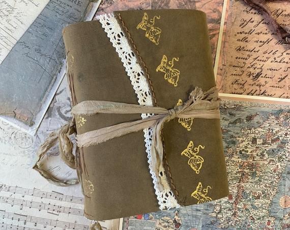 Laurel Oak: A Special Leather Journal, Unique Journal, Art Journal, Sketchbook