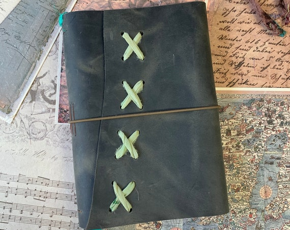 Bullet Journal, Leather Notebook, Leather Journal with Lined Paper, Fountain Pen Friendly Writing Journal, Travel Journal, Unique Journal