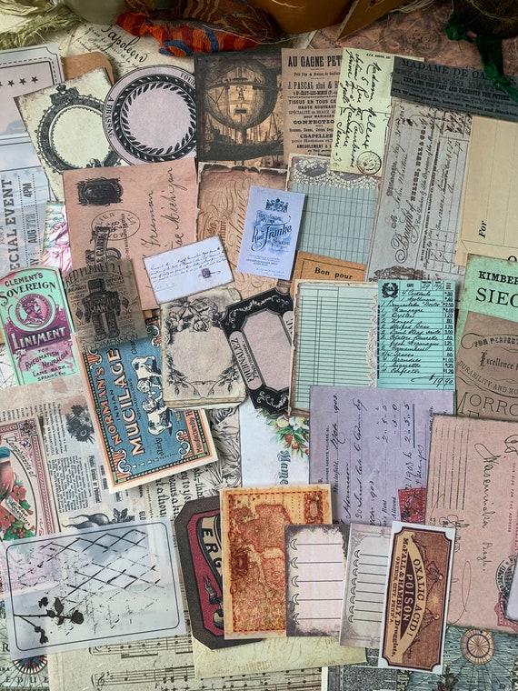 Bullet Journaling Kit, Vintage Ephemera Set, Stationery Set, Junk Journal Kit, Travel Journal, Apothecary & Ads, Receipts, V4