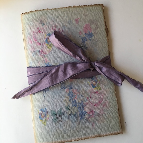 Vintage Roses, Paperback Writing Journal, Notebook, Floral Notebook, Travel Journal, Garden Journal, 9 x 6 inches