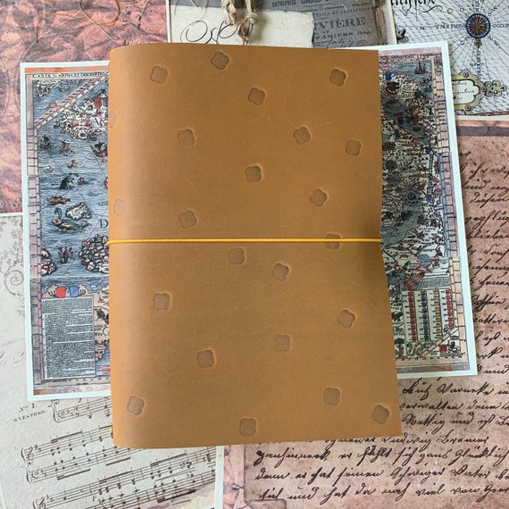 Traveler's Notebook Cover, Vintage Maps, Leather Notebook Cover, Refillable Notebook Cover, Fauxdori, Leather Fauxdori, Handmade,  TN Cover