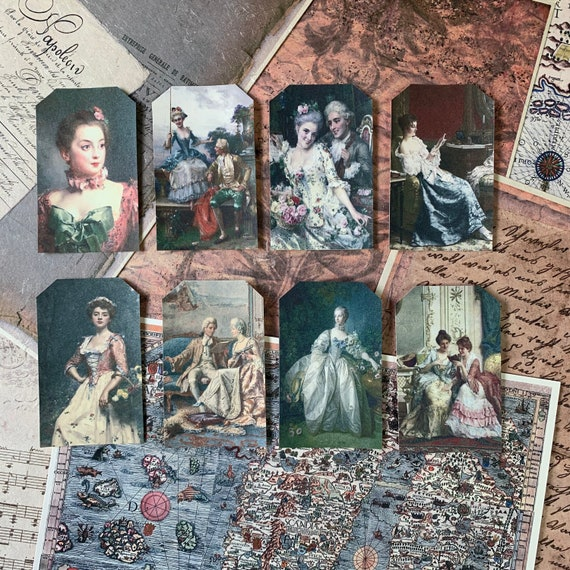Vintage Beauties, Ephemera Set, Gift Tags, Stationery Set, Junk Journal Kit, Travel Journal, Scrapbook Embellishments, Bullet Journaling, V1
