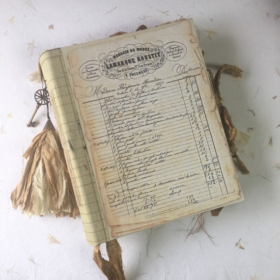 The Bookkeeper 3, Handmade Junk Journal, Wedding, Prayer Journal, Unique Journal, Guest Book, Art Journal, Vintage Style, Scrapbook, 3 Sizes