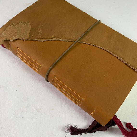 Soft Cover Leather Journal, Sketchbook, Heavy Drawing Paper, Unique Journal, Travel Journal, Gift for Writers, Lay Flat Binding, Blank