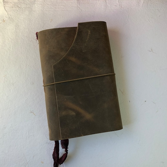 Fountain Pen Friendly Writing Journal, Bullet Journal, Leather Notebook, Leather Journal with Blank Paper, Travel Journal, Unique Journal