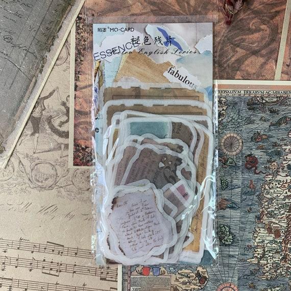 Vellum Paper Scrap Journal Stickers, Junk Journal Kit, Ephemera Set, Bullet Journal, Travel Journal, Scrapbook