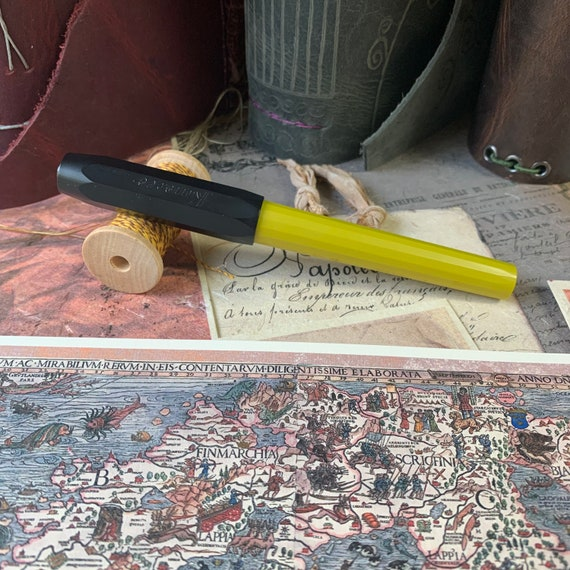 Fountain Pen, Kaweco Perkeo, Indian Summer Color, Medium Nib, Calligraphy, Bullet Journal, Writing, Refillable