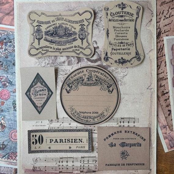 Vintage Cosmetic Stickers, Ephemera Set, Stationery Set, Junk Journal Kit, Travel Journal, Sticker Set, Vintage Style