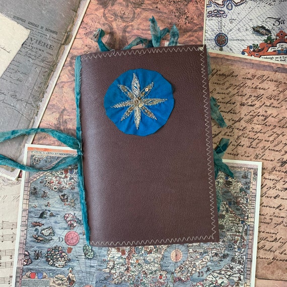 Leather Journal, Junk Journal, TN Insert, A5, Writing Journal, Notebook, Travel Journal, Nomad Collection, Unique Writing Journal