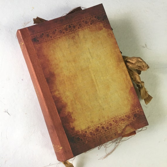 Book of Shadows, Sari Silk Trim, Wedding, Photo Album, Vintage Junk Journal, Guest Book, Art Journal, Scrapbook, Handmade