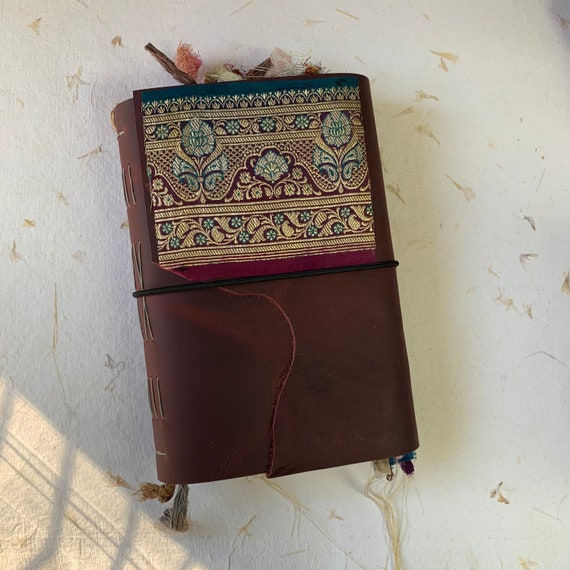 Leather Junk Journal, Dark Red, Handmade, Unique Journal, Artist Journal, Travel Journal, Book of Shadows, Scrapbook, Bullet Journal
