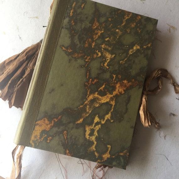 Blank Junk Journal, Writing Journal, Wedding, Photo Album, Unique Journal, Guest Book, Art Journal, Scrapbook, Book of Shadows, 9 x 6