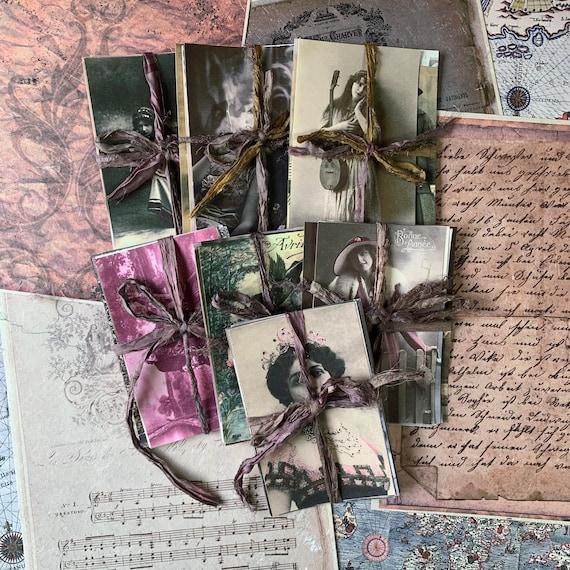 Vintage Photos, Writing Papers, Journal Cards, Set of 10, Writing Set, Stationery Set, Junk Journal, Vintage Style, Scrapbook, Ephemera