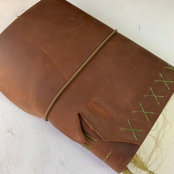 Junk Journal, Vintage Inspired, Artist Journal, Red-Brown Handmade Leather, Unique Journal, Travel Journal, Scrapbook, Bullet Journal
