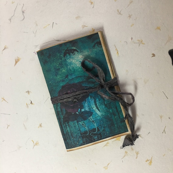 Dark Gothic, Junk Journal, Paperback Writing Journal, Travel Journal, Notebook, Tea Stained Paper, Diary, Gifts for Writers, Gifts for Teens