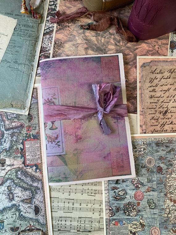 Tarot Card Journal, Paperback Writing Journal, Notebook, Handmade Journal, Soft Cover Notebook, Tarot Journal