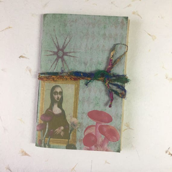 Junk Journal, Paperback, Writing Journal, Travel Journal, Notebook, Alice in Wonderland, Gifts for Writers, Tea Stained Paper, Notebook