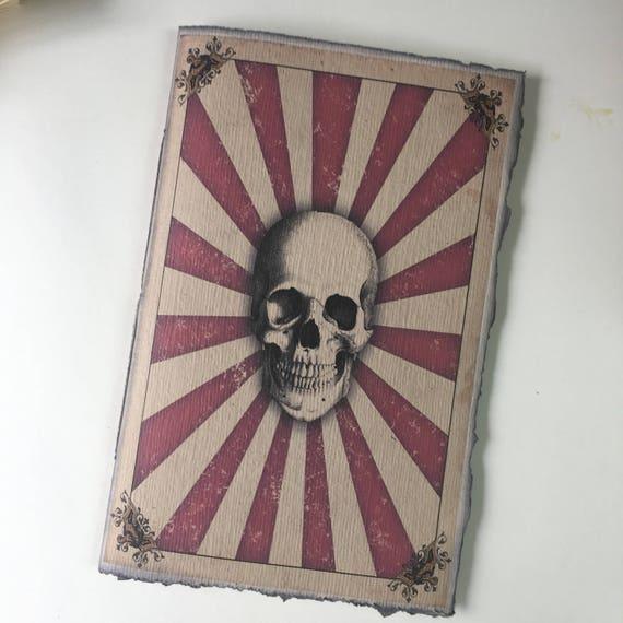 A5 Notebook Insert, Gothic Circus, Skull, Paperback Writing Journal, Notebook, Traveler's Journal Insert, A5 Notebook