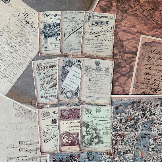 Vintage Ads Journaling Cards, Ephemera Set, Message Cards, Stationery Set, Junk Journal Kit, Travel Journal, Office and Writing