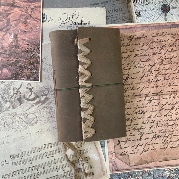 Brown Soft Cover Leather Journal, Tea Stained Paper, Unique Journal, Travel Journal, Gift for Writers, Sketchbook Journal, Lay Flat Binding
