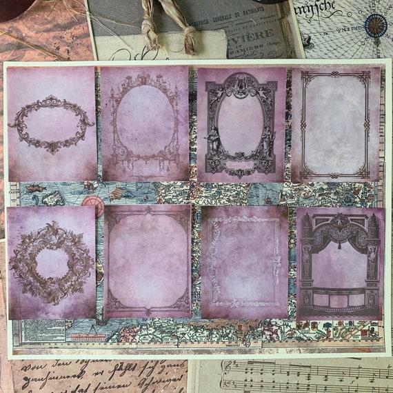 Antique Frame Stickers, Ephemera Set, Stationery Set, Junk Journal Kit, Travel Journal, Sticker Set, Victorian Style Stickers, Scrapbook