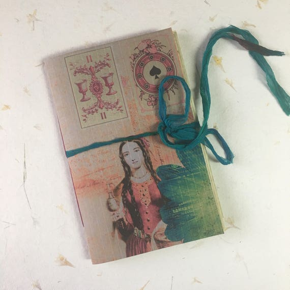 Junk Journal, Notebook, Paperback, Writing Journal, Tarot Journal, Witchy, Travel Journal, Gifts for Writers, Tea Stained Paper, Notebook